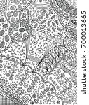 coloring page in doodle... | Shutterstock .eps vector #700013665