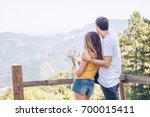 moment of closeness | Shutterstock . vector #700015411
