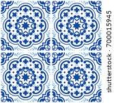 azulejos portuguese tile floor...   Shutterstock .eps vector #700015945