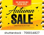 autumn sale template banner ... | Shutterstock .eps vector #700016827