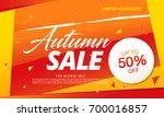 autumn sale template banner ... | Shutterstock .eps vector #700016857
