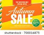 autumn sale template banner ... | Shutterstock .eps vector #700016875