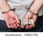 Handcuffs Arrests Dollar...