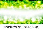 green glitter sparkles rays... | Shutterstock . vector #700018285