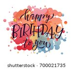 happy birthday text as birthday ... | Shutterstock .eps vector #700021735