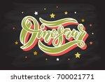 vector illustration of dinosaur ... | Shutterstock .eps vector #700021771