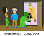 set of flat colorful vector... | Shutterstock .eps vector #700027045