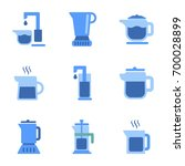 assembly flat icons coffee... | Shutterstock .eps vector #700028899