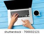 woman using modern laptop