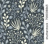 vector floral seamless pattern ... | Shutterstock .eps vector #700038865