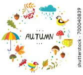 autumn frame with the nature...   Shutterstock .eps vector #700040839