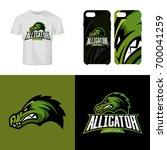 alligator head sport club... | Shutterstock .eps vector #700041259