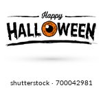 happy halloween text banner... | Shutterstock .eps vector #700042981