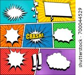 comic book page template with...   Shutterstock .eps vector #700044529