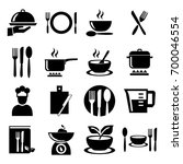 cooking and kitchen set  icons | Shutterstock .eps vector #700046554