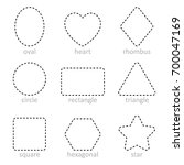 die line set of geometric... | Shutterstock .eps vector #700047169