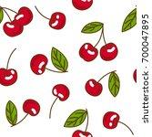 berries fruit cherry with... | Shutterstock .eps vector #700047895