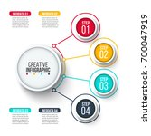 vector circles for infographic. ... | Shutterstock .eps vector #700047919