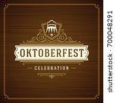 oktoberfest beer festival... | Shutterstock .eps vector #700048291