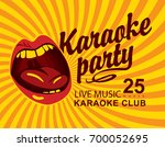 vector banner for club live... | Shutterstock .eps vector #700052695