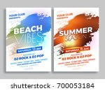 beach vibes and summer season... | Shutterstock .eps vector #700053184