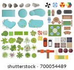 set landscape elements  top... | Shutterstock .eps vector #700054489