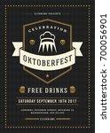 oktoberfest beer festival... | Shutterstock .eps vector #700056901