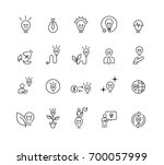 simple light idea icons set... | Shutterstock .eps vector #700057999