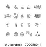 people and business icons set... | Shutterstock .eps vector #700058044