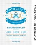 oktoberfest beer festival...   Shutterstock .eps vector #700058419