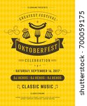 oktoberfest beer festival... | Shutterstock .eps vector #700059175
