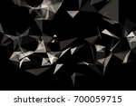 3d rendering. abstract glass... | Shutterstock . vector #700059715