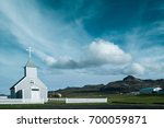 rural church in iceland | Shutterstock . vector #700059871
