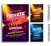 party night flyer or poster... | Shutterstock .eps vector #700060465