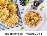 Delicious Homemade Waffles Wit...