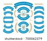 oktoberfest celebration beer... | Shutterstock .eps vector #700062379