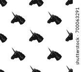unicorn icon in black style... | Shutterstock . vector #700063291