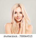 beautiful smiling woman with... | Shutterstock . vector #700064515