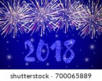 fireworks colorful vector... | Shutterstock .eps vector #700065889