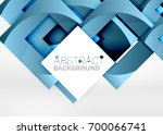 squares geometric object in... | Shutterstock .eps vector #700066741