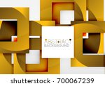 squares geometric object in... | Shutterstock .eps vector #700067239