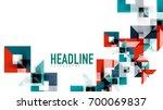 business presentation geometric ... | Shutterstock .eps vector #700069837