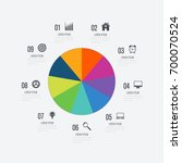 infographics template 9 options ... | Shutterstock .eps vector #700070524
