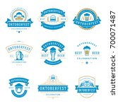 oktoberfest celebration beer... | Shutterstock .eps vector #700071487
