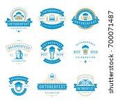 oktoberfest celebration beer... | Shutterstock .eps vector #700071487