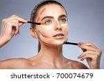 beauty concept. portrait of... | Shutterstock . vector #700074679