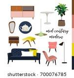 vector mid century modern... | Shutterstock .eps vector #700076785