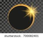 solar eclipse illustration on... | Shutterstock .eps vector #700082401