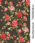 elegance seamless floral... | Shutterstock .eps vector #700083811