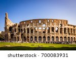 colosseum day view in rome | Shutterstock . vector #700083931